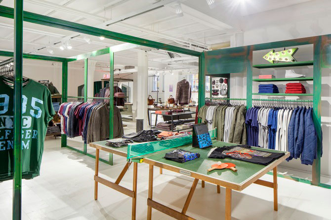 Lekfull butiksdesign hos nyöppnade Menatwork