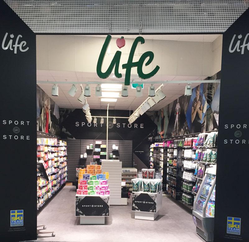 Hälsokedjan Life öppnar sportbutik