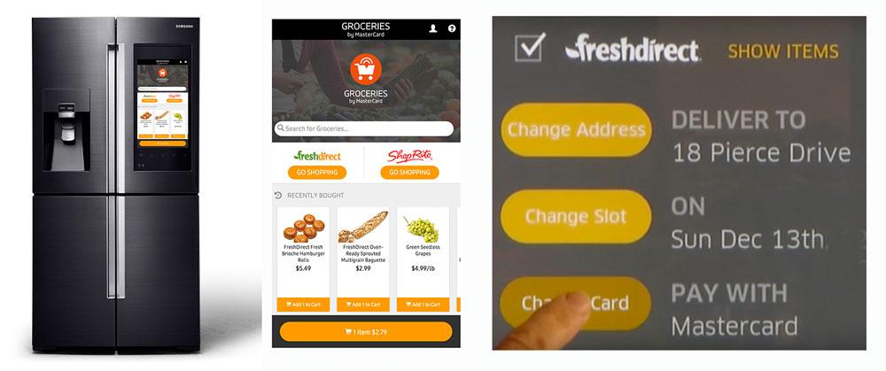 Nu integreras e-handel direkt i kylskåpet