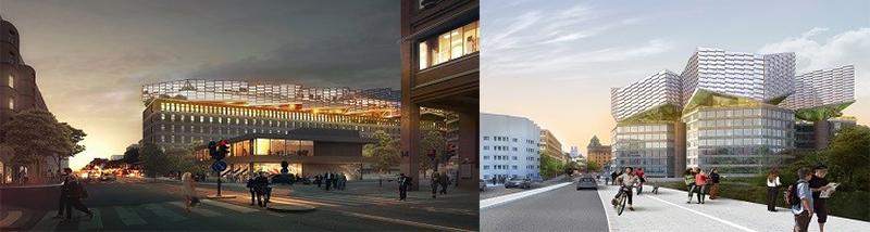 Nytt arkitektoniskt landmärke med handel