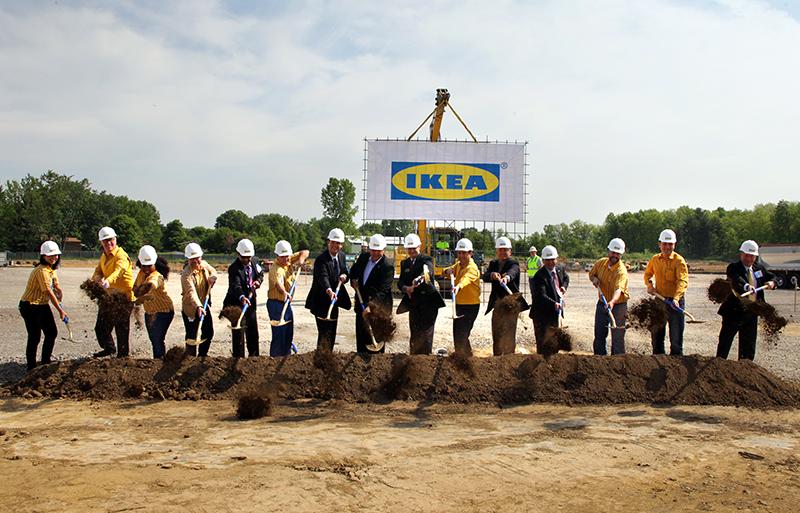Första spadtaget för Ikeas nya varuhus