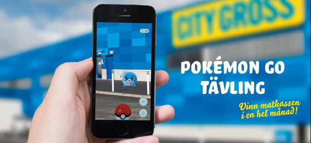Pokémon Go-tävling hos City Gross