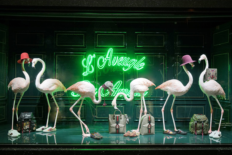 Gucci poppar upp hos Galeries Lafayette
