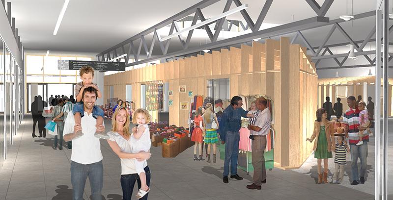 Köpcentrum öppnar starta eget-butik