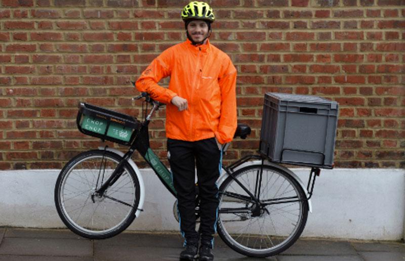 Dagligvaror levereras snabbt med cykel