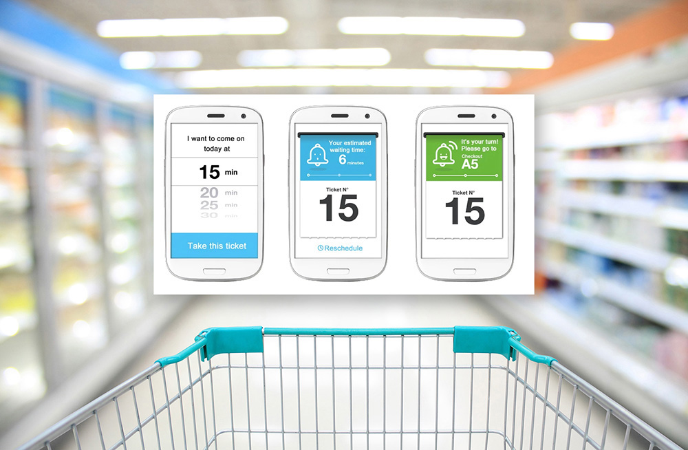 Carrefour utvecklar en virtuell kassakö
