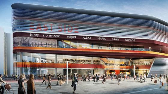 Futuristisk arenashopping i Berlin