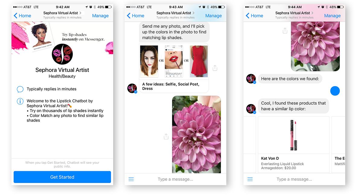 Sephora lanserar botbaserade tjänster