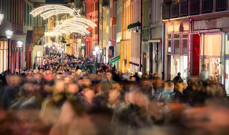 Minskade snittköp i ökande julhandel
