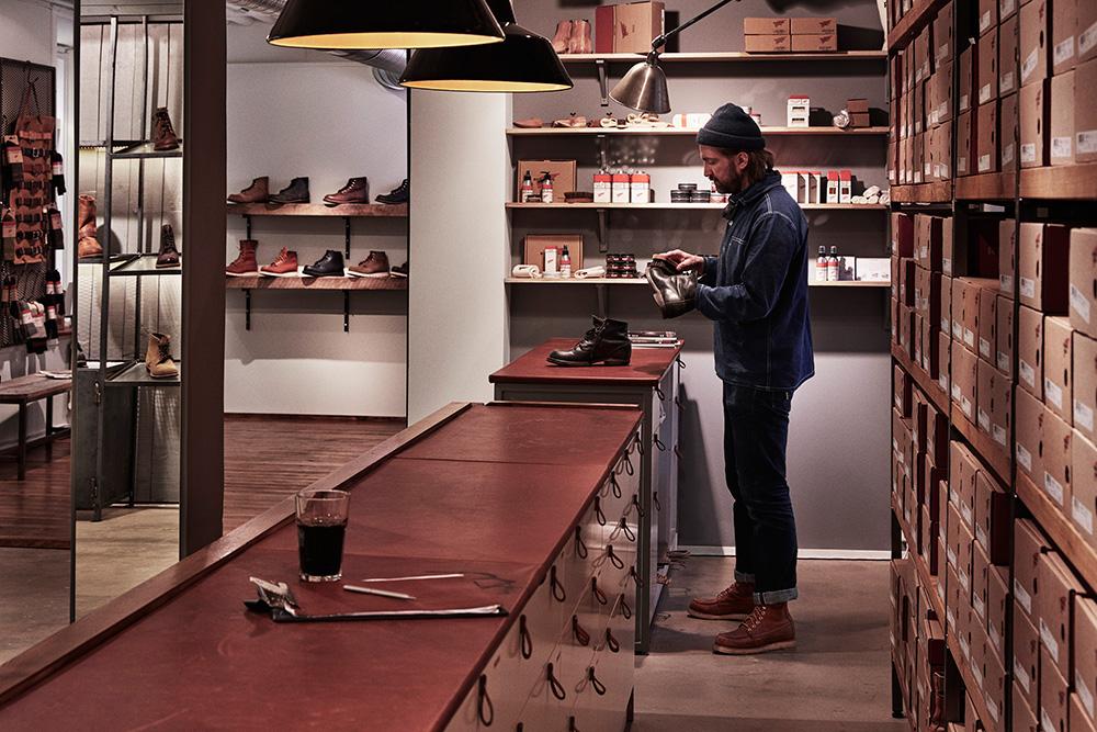 Amerikanskt hantverk i genuin skobutik