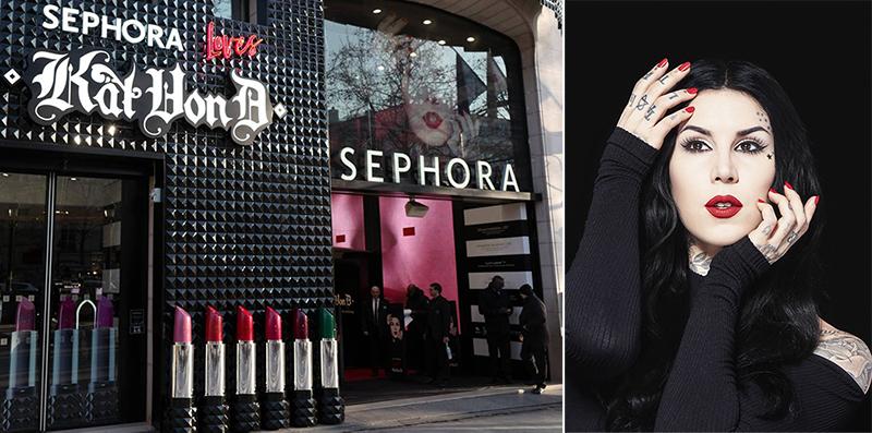Kat Von D flyttar in hos Sephora