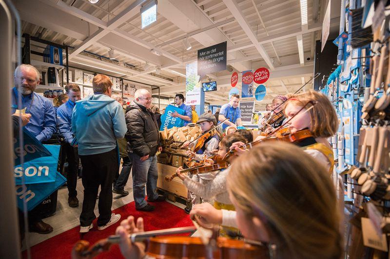 Clas Ohlson öppnade i Brännborn Center