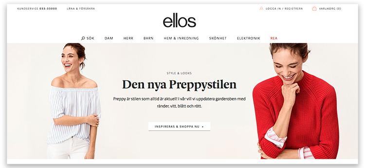 Ellos Group uppgraderar sin e-handel