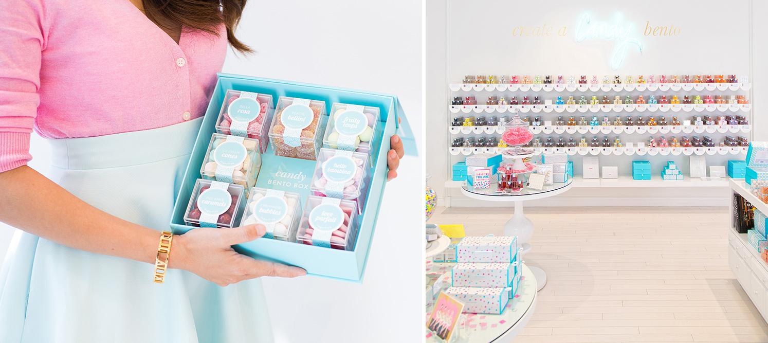 Lyxigt godis för vuxna i chic boutiquemiljö