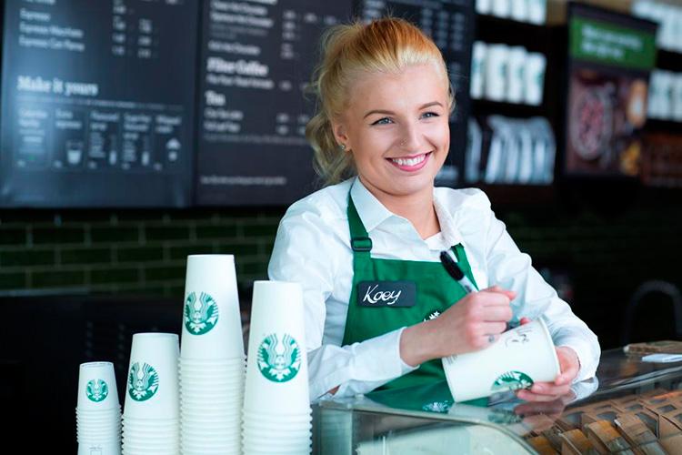 Starbucks första bara-mobil-butik