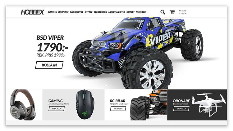 Ny design på Hobbex e-butik