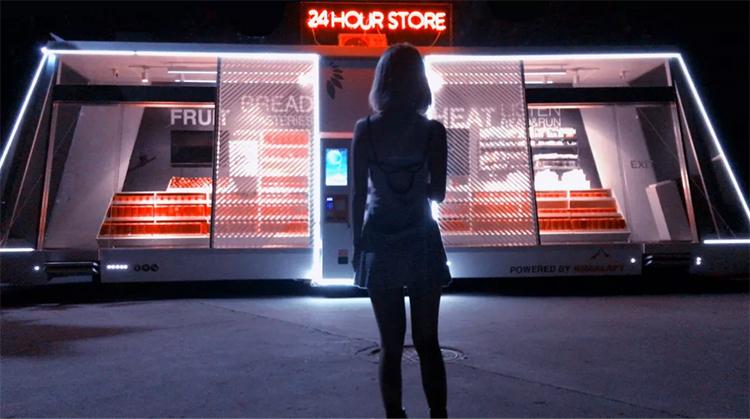 Mobil automatisk och självkörande butik