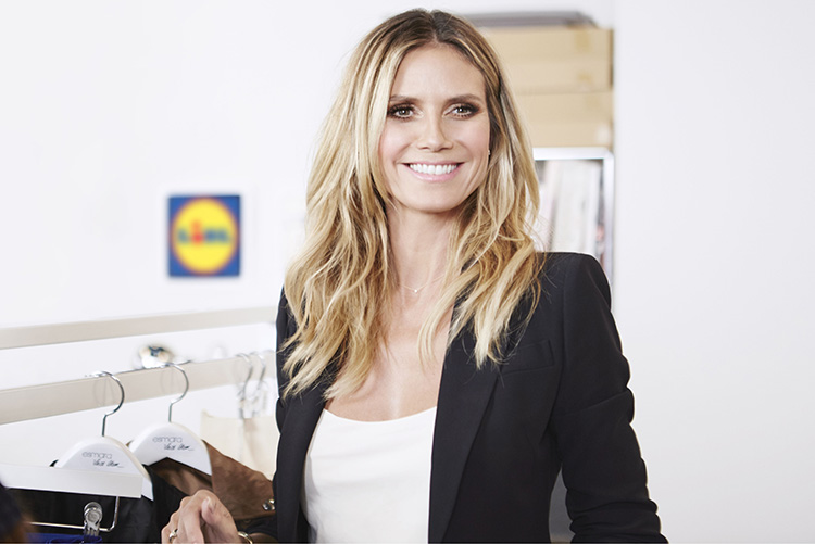 Lidl samarbetar med Heidi Klum
