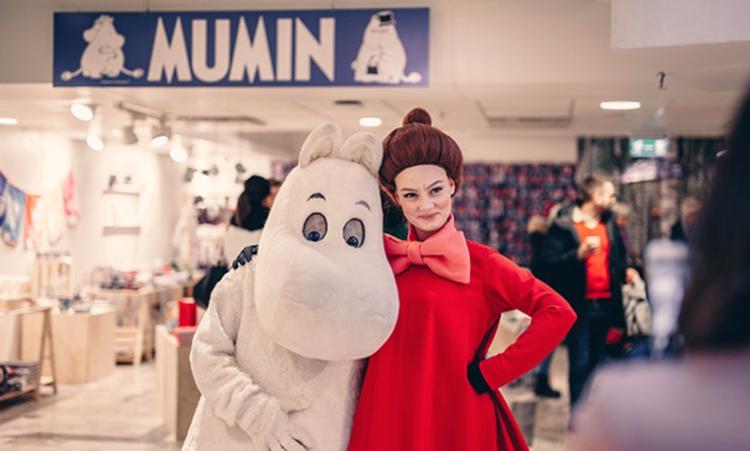 Mumin poppar up på Åhléns