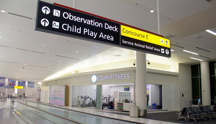Nytt koncept för fitness på flygplatsen