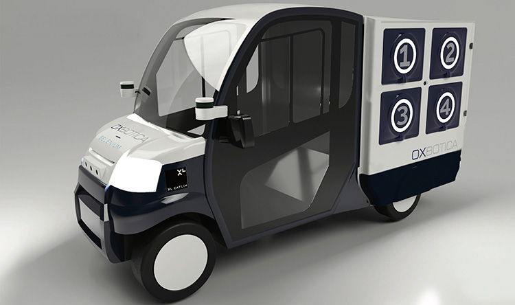 Varor levereras med självkörande bil
