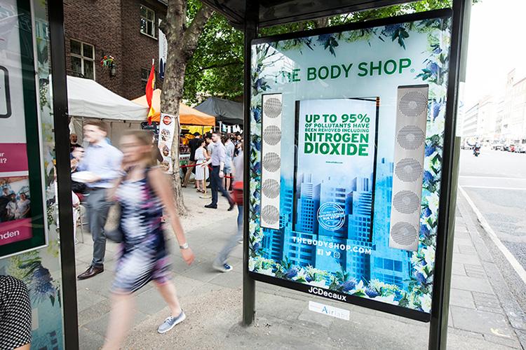 Body Shop bjöd Londonbor på ren luft