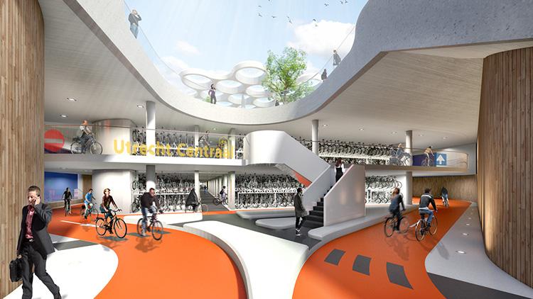 Världens största garage för cyklar