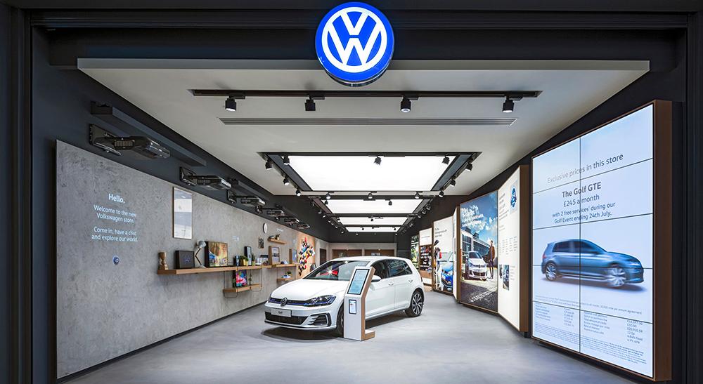 Köpcentrumet ny arena för Volkswagen