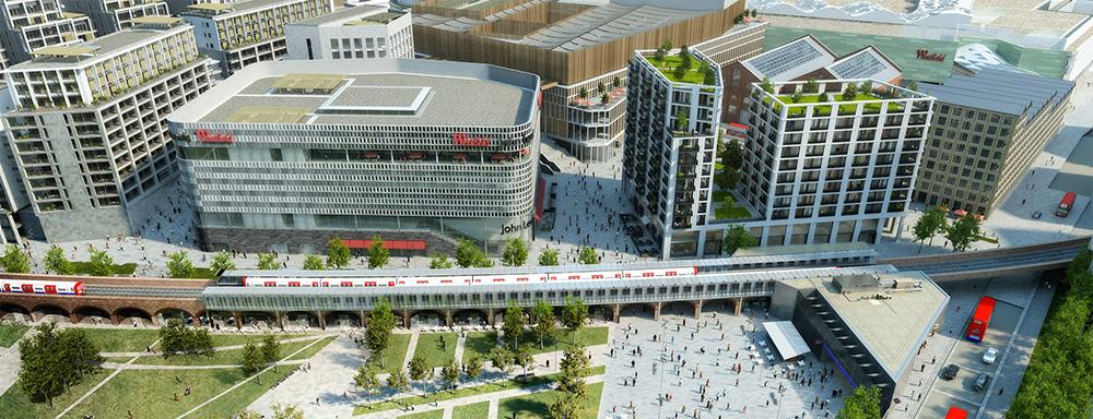 Se nya Westfield London växa fram