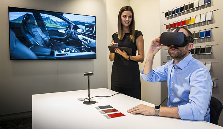 Audi mixar on- och offline med Virtual Reality