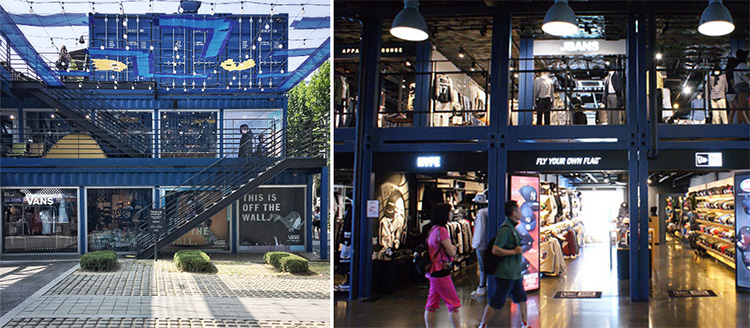 Nytt containercentrum mixar mat och shopping