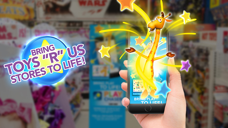 "Lek med Augmented Reality hos Toys""R""Us"