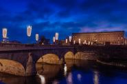 LED-ljus lyser upp Stockholm
