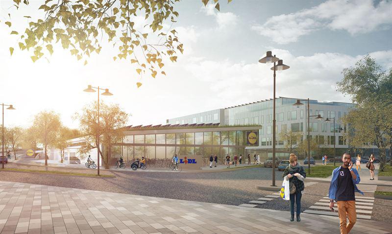 Lidl bygger kontor och ny butik i Barkarbystaden