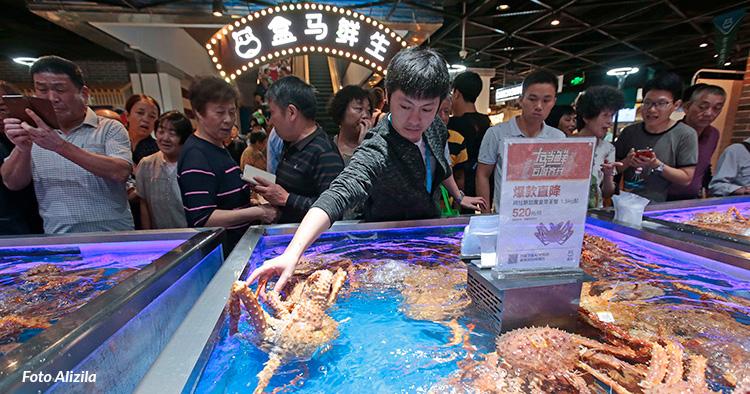 Här är Alibabas sömlösa dagligvarukoncept