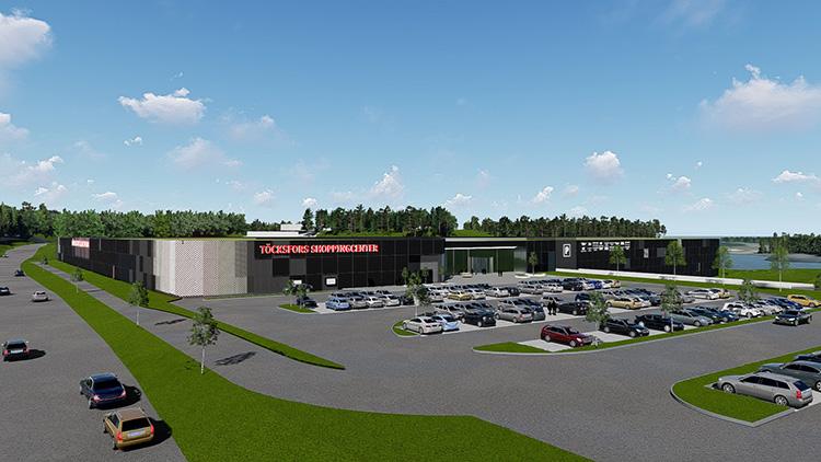 Nu byggs Töcksfors Shoppingcenter ut
