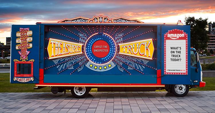 Här rullar Amazons Treasure Truck