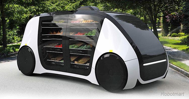 Robotmart kör hem butiken till kunden