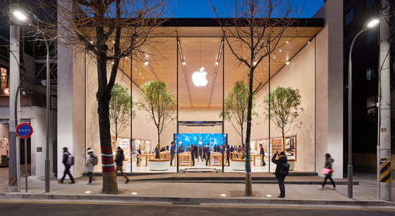 Apples nya butik inspirerad av stadsbilden