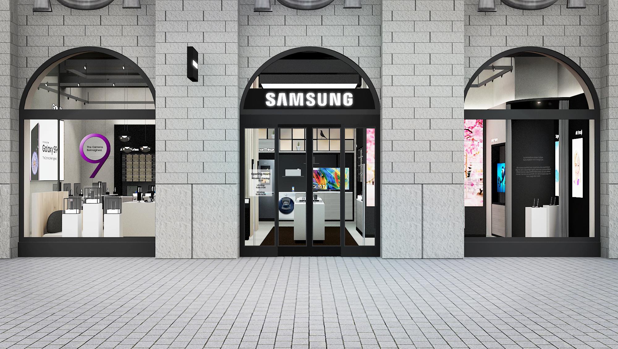 Samsung öppnar upplevelsebutik