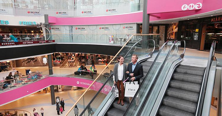 Köpcentrum skräddarsydde ljudlandskap