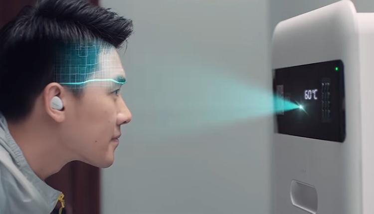 Leveransbox med ansiktsidentifiering