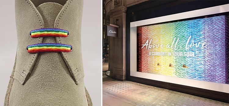 Firar Pride med regnbågsfärg