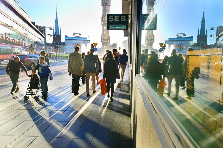 Uppåt för Sveriges stadskärnor