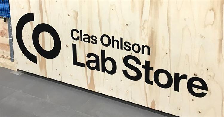 Här är Clas Ohlsons första Lab Store