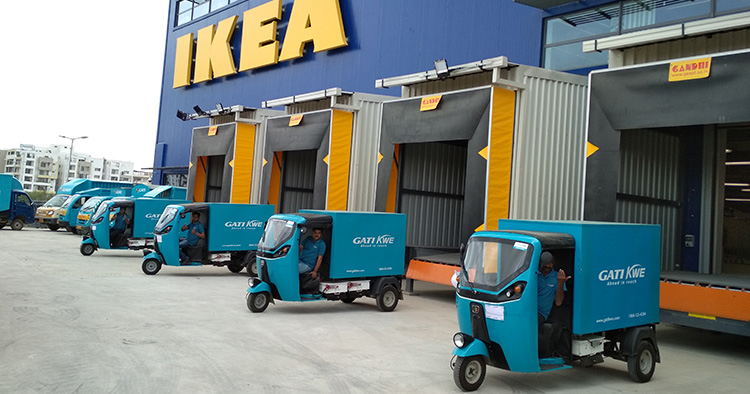 Nollutsläpp för leveranser från Ikea