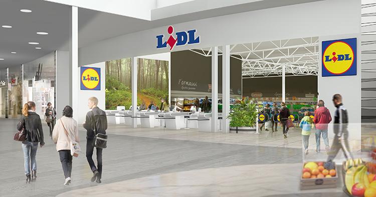 Lidl har öppnat i köpcentrumet C4