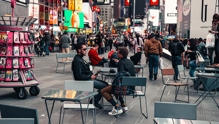 Skandinavisk design på Times Square