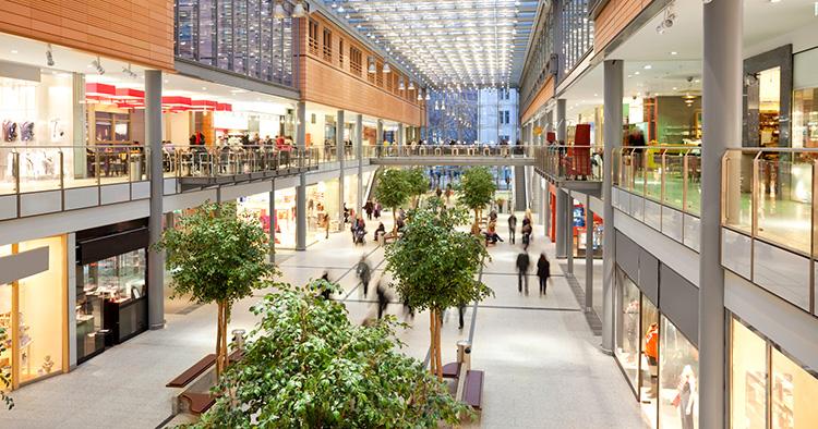 Intresset för traditionella köpcentrum sviktar