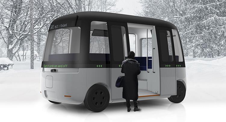 Mujis design i självkörande buss